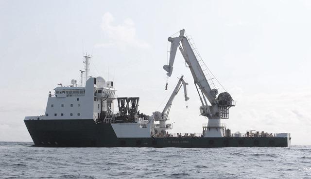 barcaza trabajo alta mar