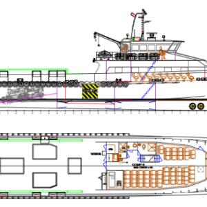 60 Pax Fast Supply Crewboat / Utility Vessel (2 sisters) - Van Loon