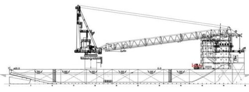 Heavy crane barge