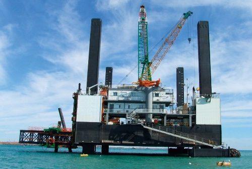 barcaza construcion