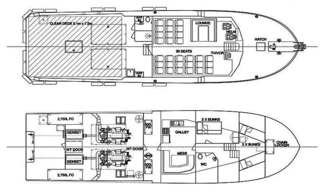 Crewboat for sale, Barco del Equipo en venta
