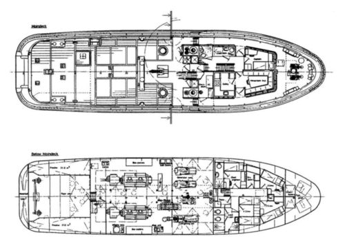 Line handling vessel