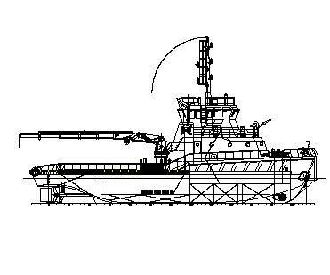 Shallow draft tug