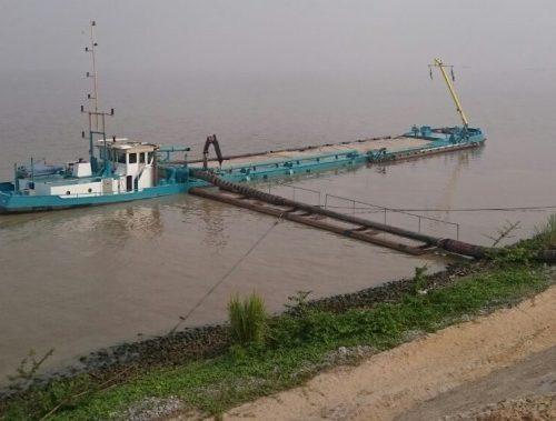 river dredger